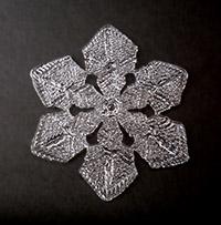 納品した雪の結晶